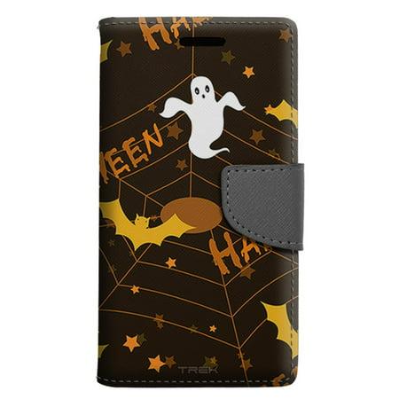 apple iphone 7 wallet case halloween ghost pattern case