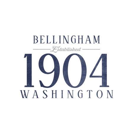 Bellingham, Washington - Established Date (Blue) Print Wall Art By Lantern (Bellingham Mall)