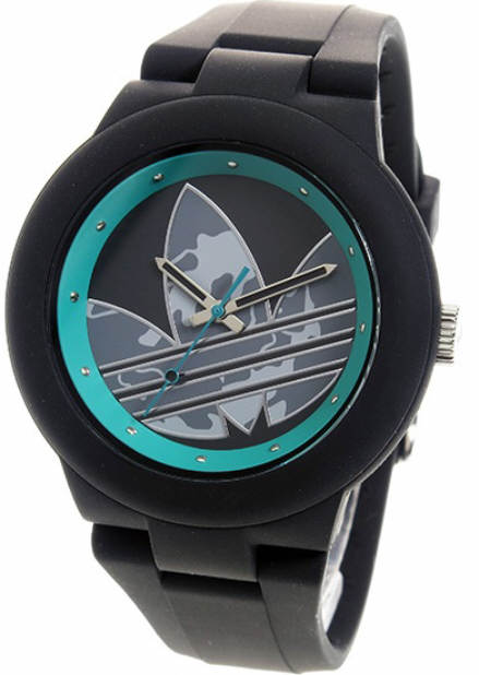 Women's Adidas Originals Aberdeen Black And Turquoise Silicone Watch ADH3106 by Adidas