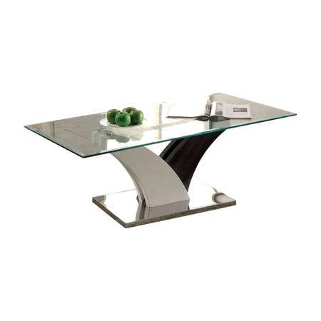 Furniture of America Adeena Contemporary Style Flared Base Coffee Table ()