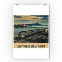 New York Central System - Bannerman's Island Vintage Poster (artist: Ragan) USA c. 1940 (9x12 Art Print, Wall Decor Travel Poster)