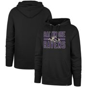 Baltimore Ravens '47 Block Stripe Headline Pullover Hoodie - Black