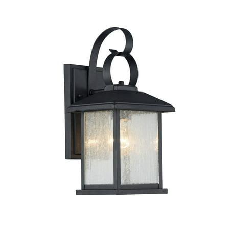 "CHLOE Lighting HINKLEY Transitional 1 Light Black Outdoor Wall Sconce 13"" Height"