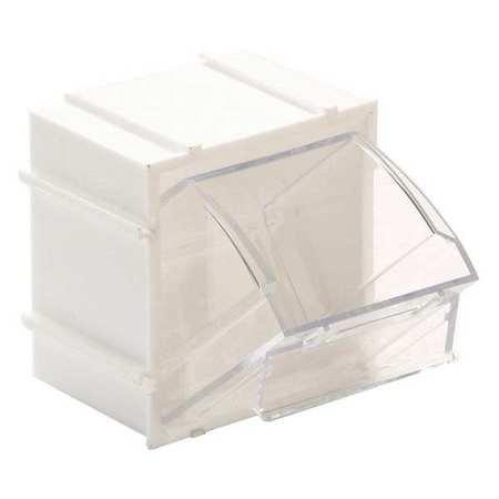 QUANTUM STORAGE SYSTEMS QTB409WT Tip Out Bins, Individual, W 2-13/16, White