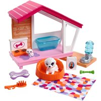 Barbie Estate Indoor Furniture Dog House & Accessories Set