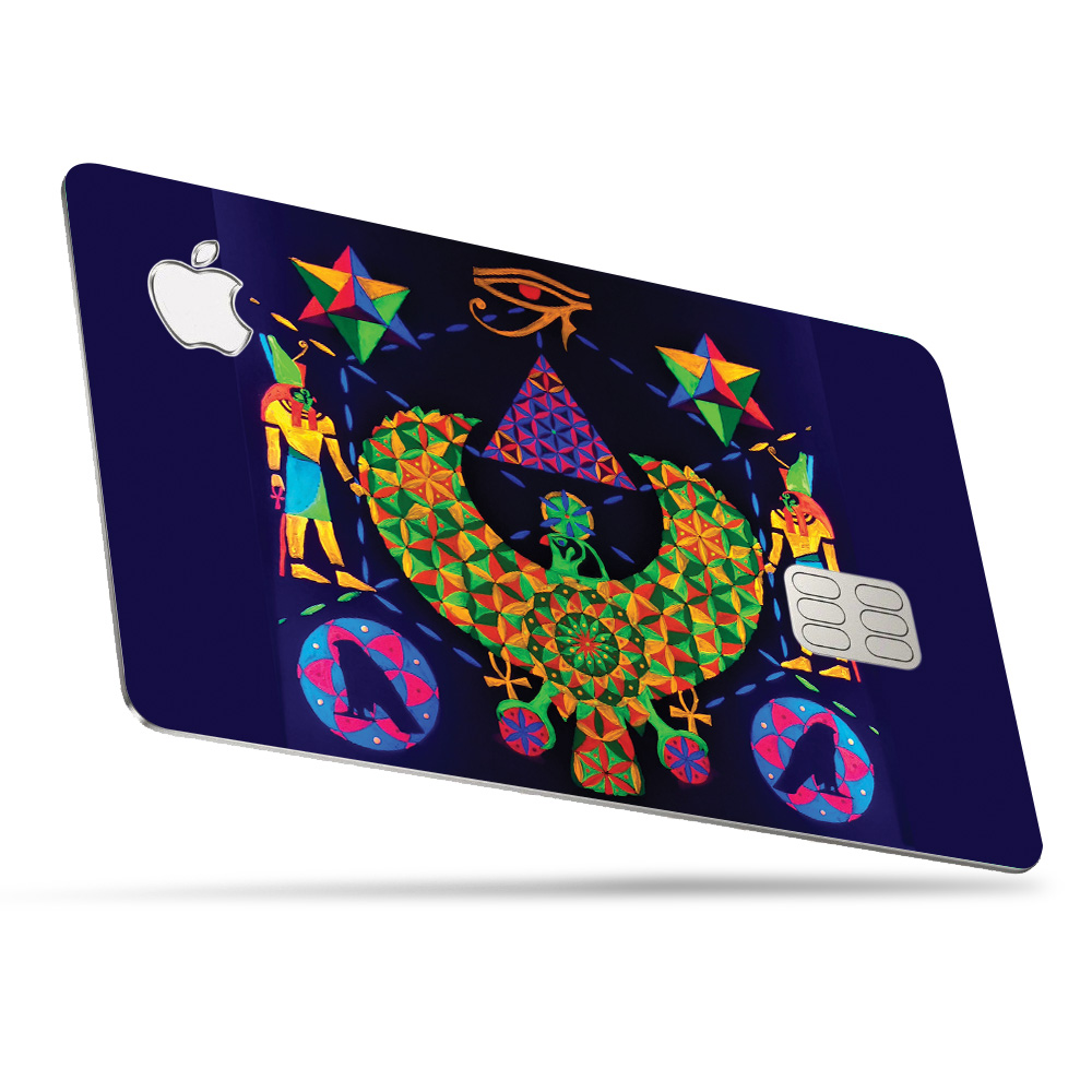 geometric skin for apple card  protective durable and