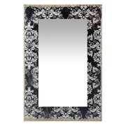 Infinity Instruments French Country Damask Rectangle Wall Mirror - 15.75W x 23.5H in.