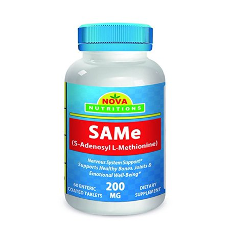 - Nova Nutritions SAM-e 200 mg 60 Tabs (Enteric Coated)