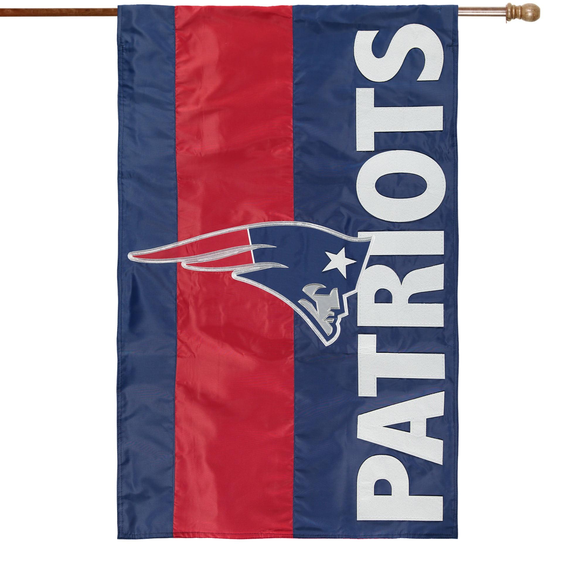 New England Patriots 28 X 44 Double Sided Embellish House Flag Walmart Com Walmart Com
