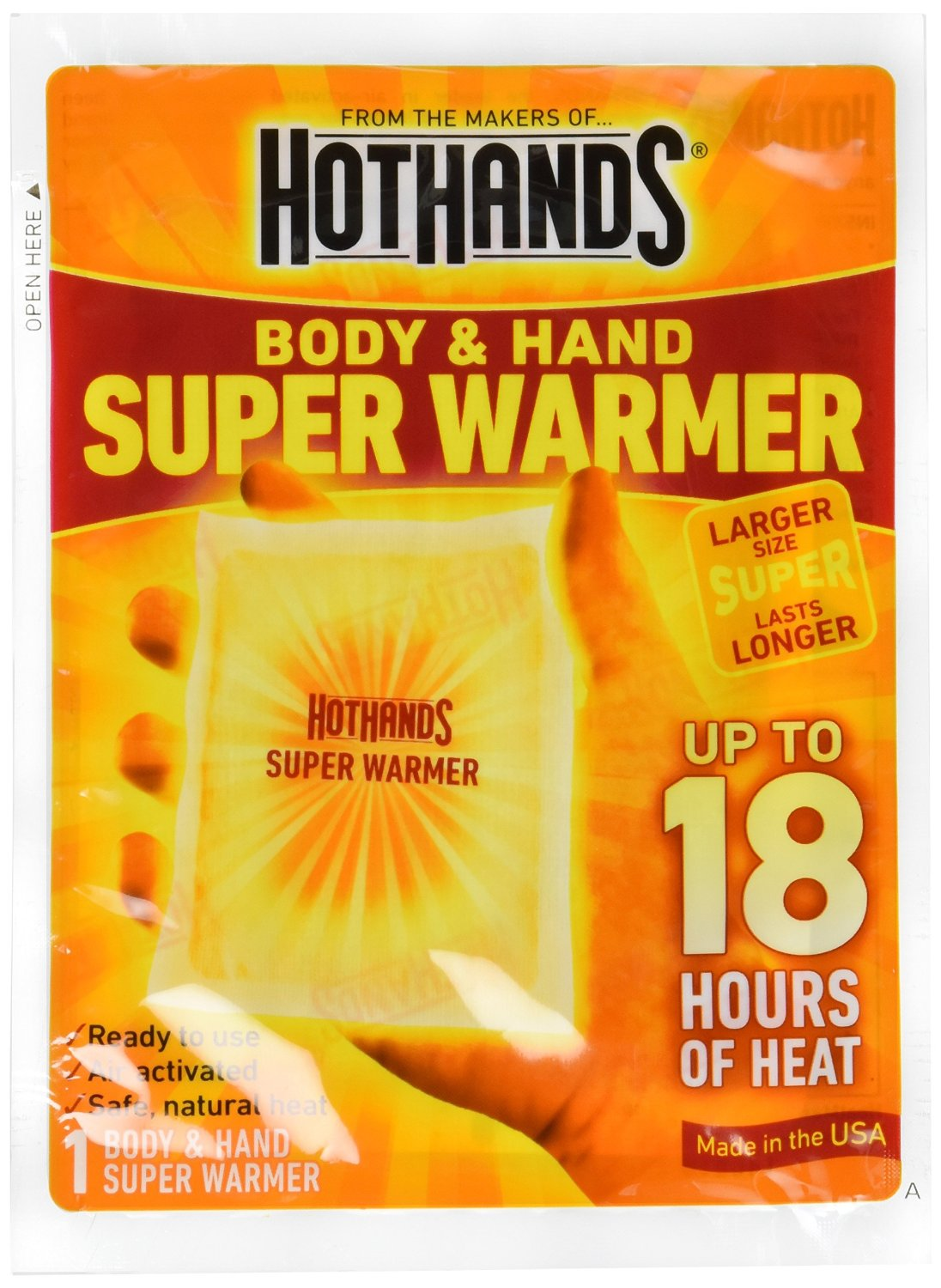 20 Pack HotHands Body & Hand Super Warmer 20 Pack by