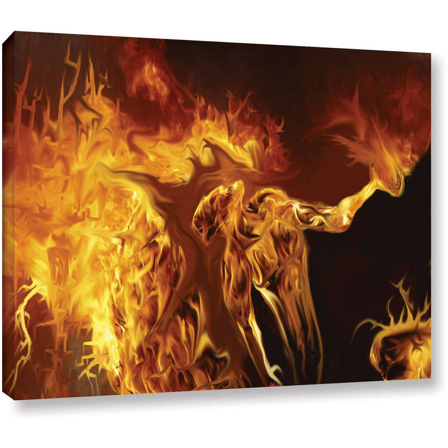 "ArtWall Pyro Painter ""Pyro"" Wrapped Canvas"