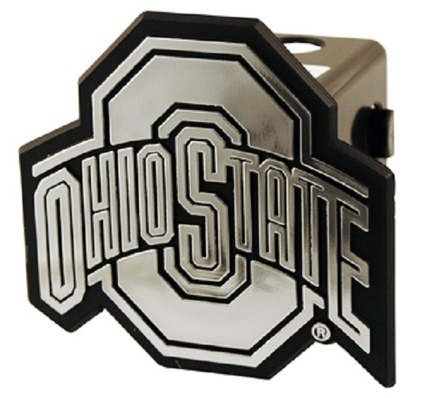 "Ohio State Buckeyes Silver Trailer Hitch Cover Cap for 2"" Receiver"