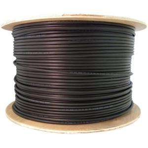 4XEM 1000FT Roll Outdoor CAT 5E CAT5E Ethernet Network Cable - Category 5e for Network Device - 125 MB/s - Patch Cable - 1000 ft - Bare Wire - Bare Wire - Black 1000FT ROLL OUTDOOR CAT5E BLACK