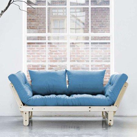 Fresh Futon Beat Natural Wood Convertible Futon Sofa