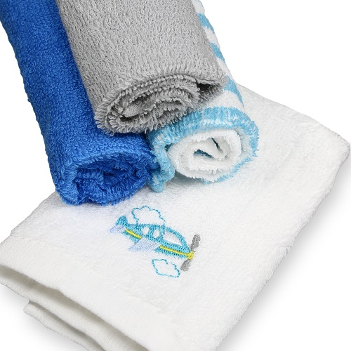 Click here to buy Spasilk Cotton 4 Pack Woven Washcloths by Spasilk.