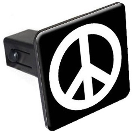 """Peace Sign 1.25"""" Tow Trailer Hitch Cover Plug Insert"""