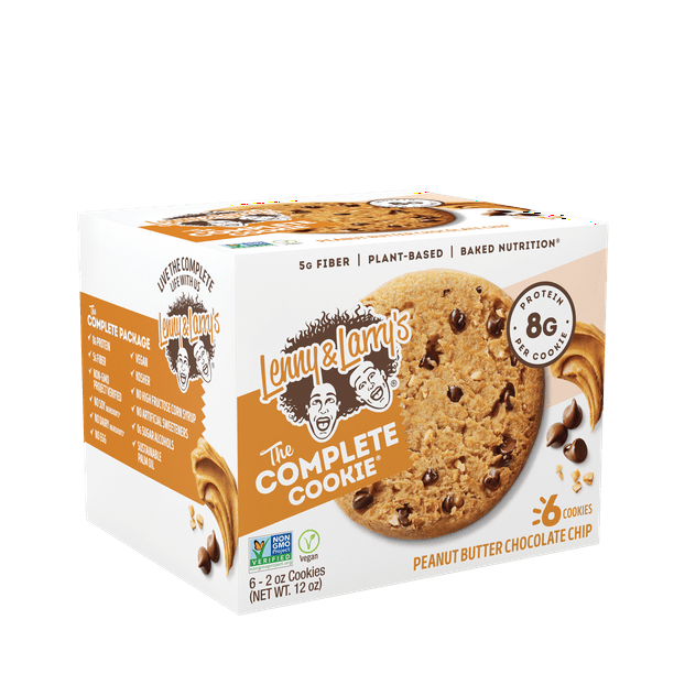 Lenny Larry S The Complete Cookie Peanut Butter Chocolate Chip 6 Ct Walmart Com Walmart Com