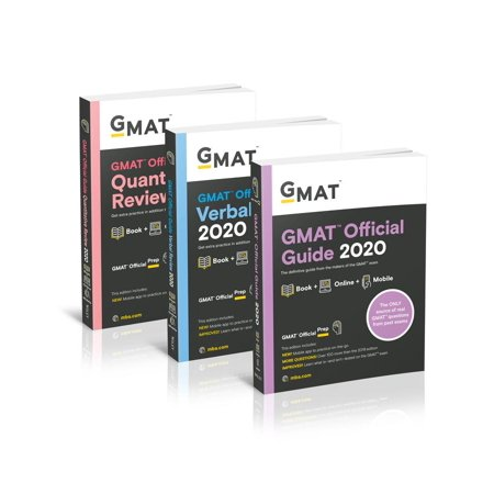 GMAT Official Guide 2020 Bundle : 3 Books + Online Question (The Official Guide For Gmat Verbal Review)