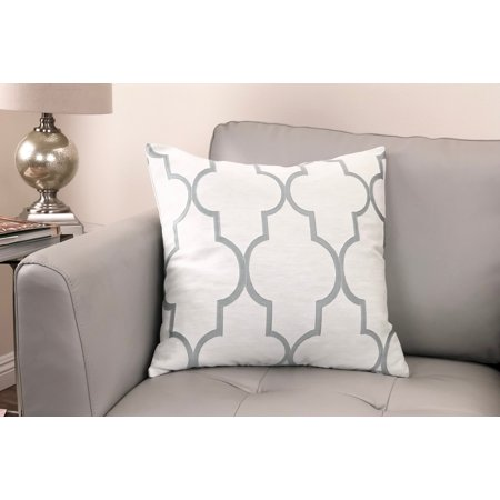 - Paxton Contemporary Decorative Feather and Down Throw Pillow In Sea Foam Jacquard Fabric