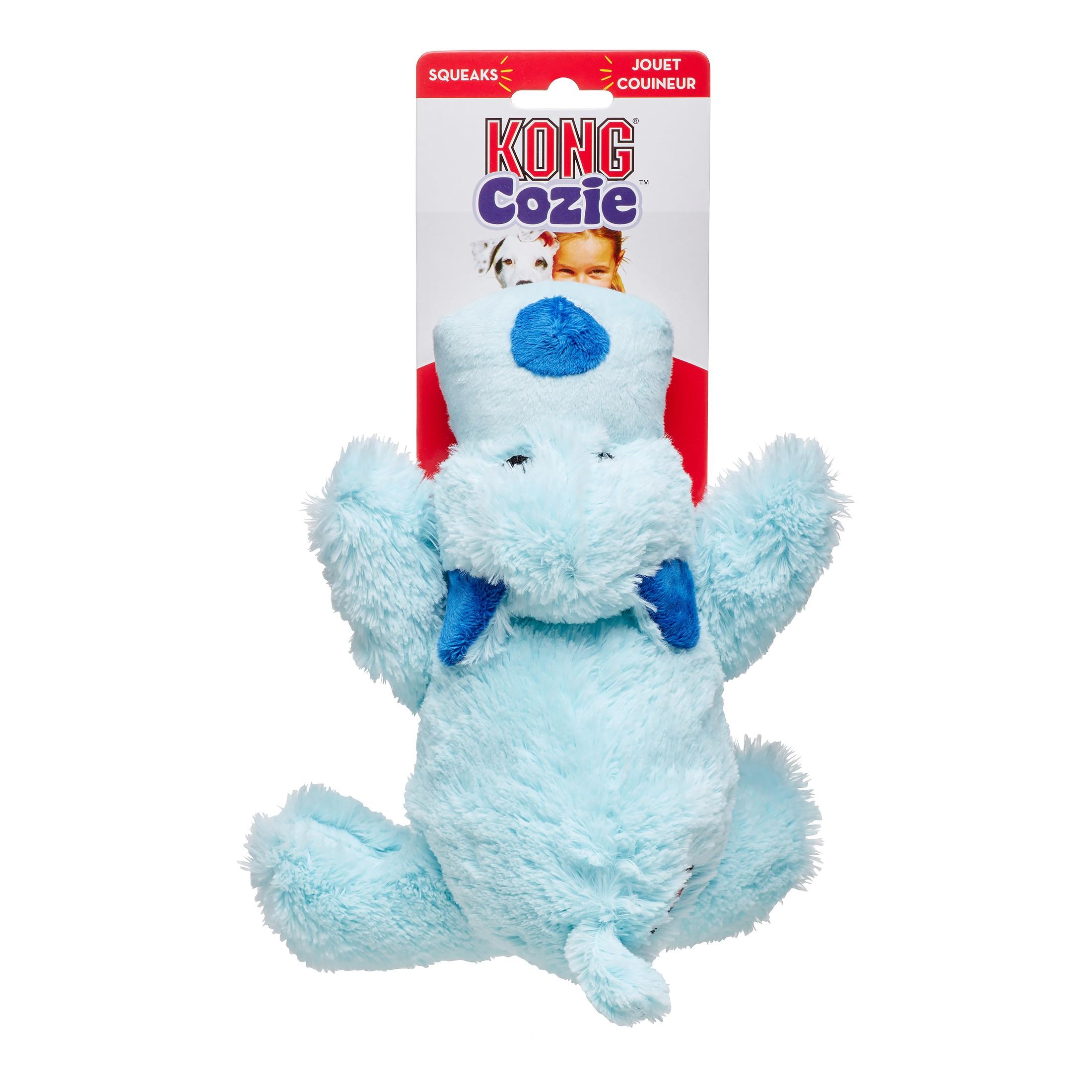 KONG Cozie Baily Dog Toy, Blue, Medium