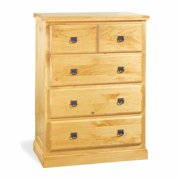 "Stafford Pine Four Drawer Dresser Chest Easy Assembly Kit 35 3/4"" Wide 48 3/4"" Height 20"" Projection"