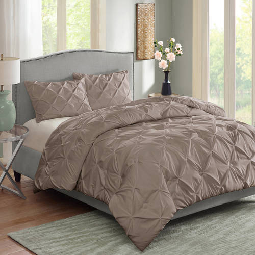Better Homes & Gardens Full Pintucked Comforter Set, 3 Piece