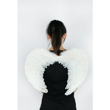 Cemetery Angel Halloween Costume (Angel Feather Wings Costume for Christmas/Halloween Party by)