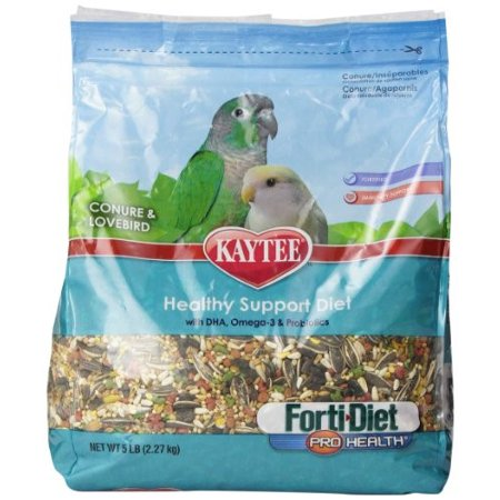 Kaytee Forti-Diet Pro Health Conure & Lovebird Bird Food, 5