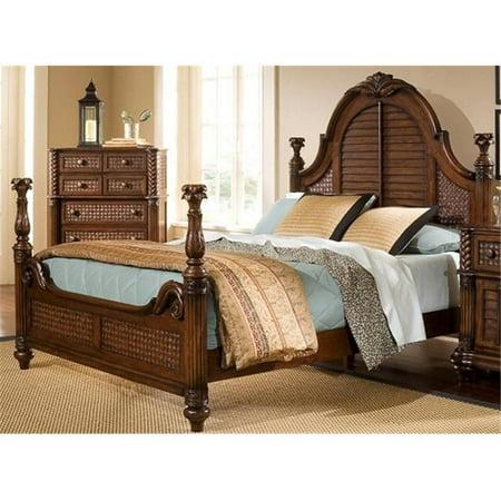 Progressive Furniture P142 60 Palm Court Ii 5 X 0 Queen Low Poster Headboard