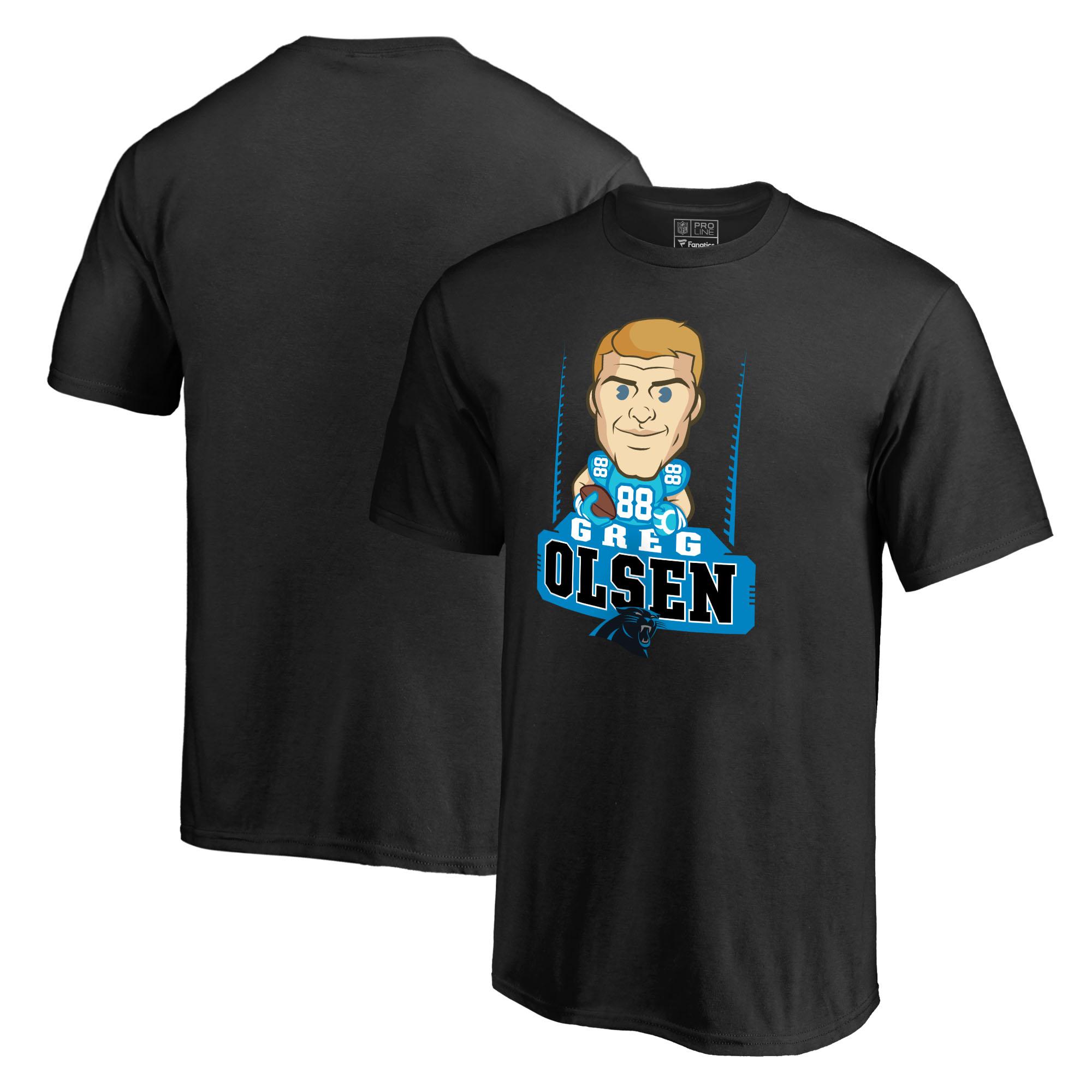 Greg Olsen Carolina Panthers NFL Pro Line Youth Emoji Player T-Shirt - Black