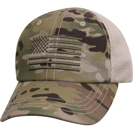 964509d72a1 Rothco - USA US Flag Multicam Camo Hunting Military Mesh Back Tactical  Baseball Cap Hat - Walmart.com