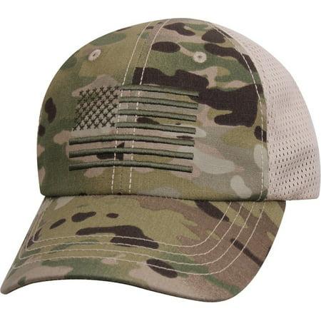 USA US Flag Multicam Camo Hunting Military Mesh Back Tactical Baseball Cap Hat