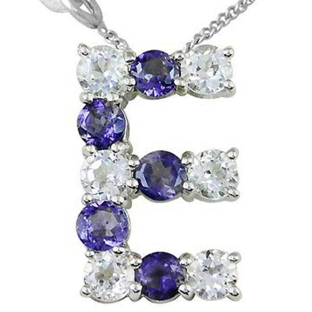 Delicate Iloite Necklace set in Sterling Silver