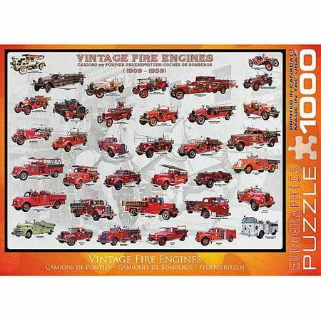 EuroGraphics Vintage Fire Engines 1000-Piece Puzzle