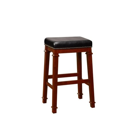Awesome Riverbay Furniture 30 Faux Leather Bar Stool In Black Onthecornerstone Fun Painted Chair Ideas Images Onthecornerstoneorg