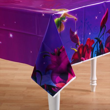 Tinkerbell Table Cover (Tinker Bell Plastic Table Cover)