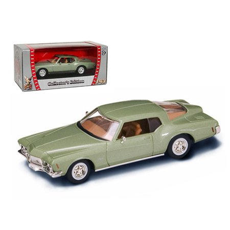 Buick Gs Green Car - 1971 Buick Riviera GS Green 1/43 Diecast Car Model by Road Signature