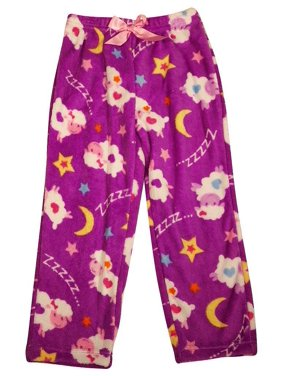 Private Label - Big Girls Microfiber Pajama Pant Turquoise Monkeys / 7