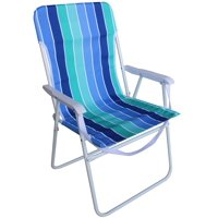 Mainstays Folding High Profile Blue & Green Stripe Chair