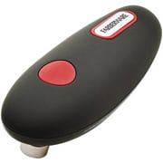 Farberware Hands-Free Battery-Operated Black Can Opener in Red