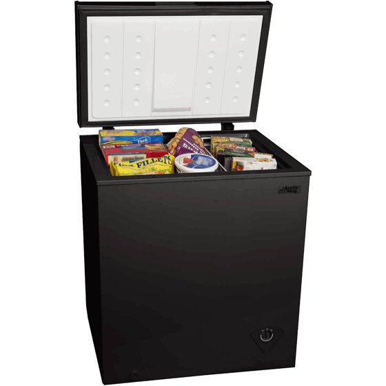 Arctic King 5 0 Cu Ft Chest Freezer Black Walmart Com
