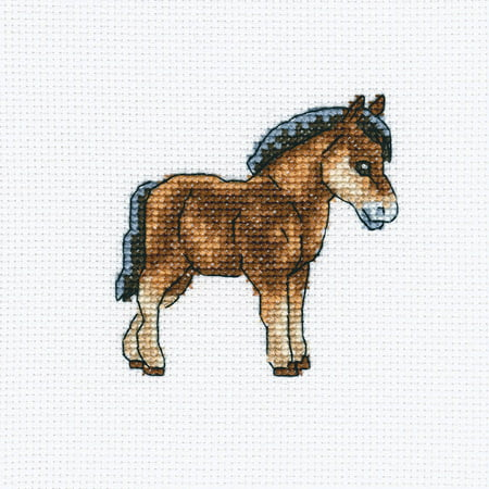 Horse Cross Stitch - Dutch Horse Counted Cross Stitch Kit, 4