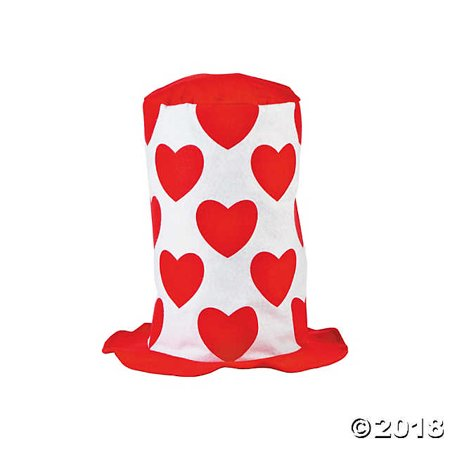 Valentine's Day Stovepipe Hat (Valentines Day Hat)