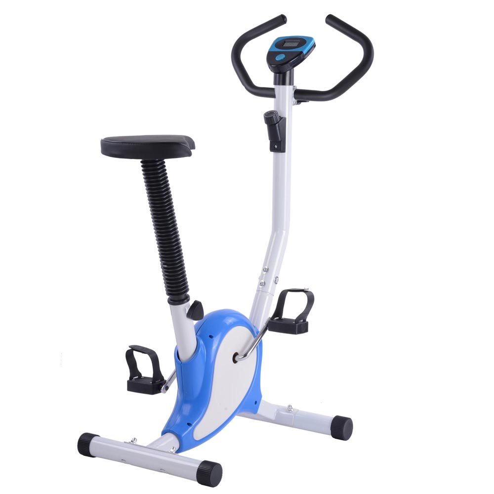 Blue Exercise Bike Fitness Cycling Machine w  LCD Display Personal Gym Cardio Aerobic Equipment by Yescom
