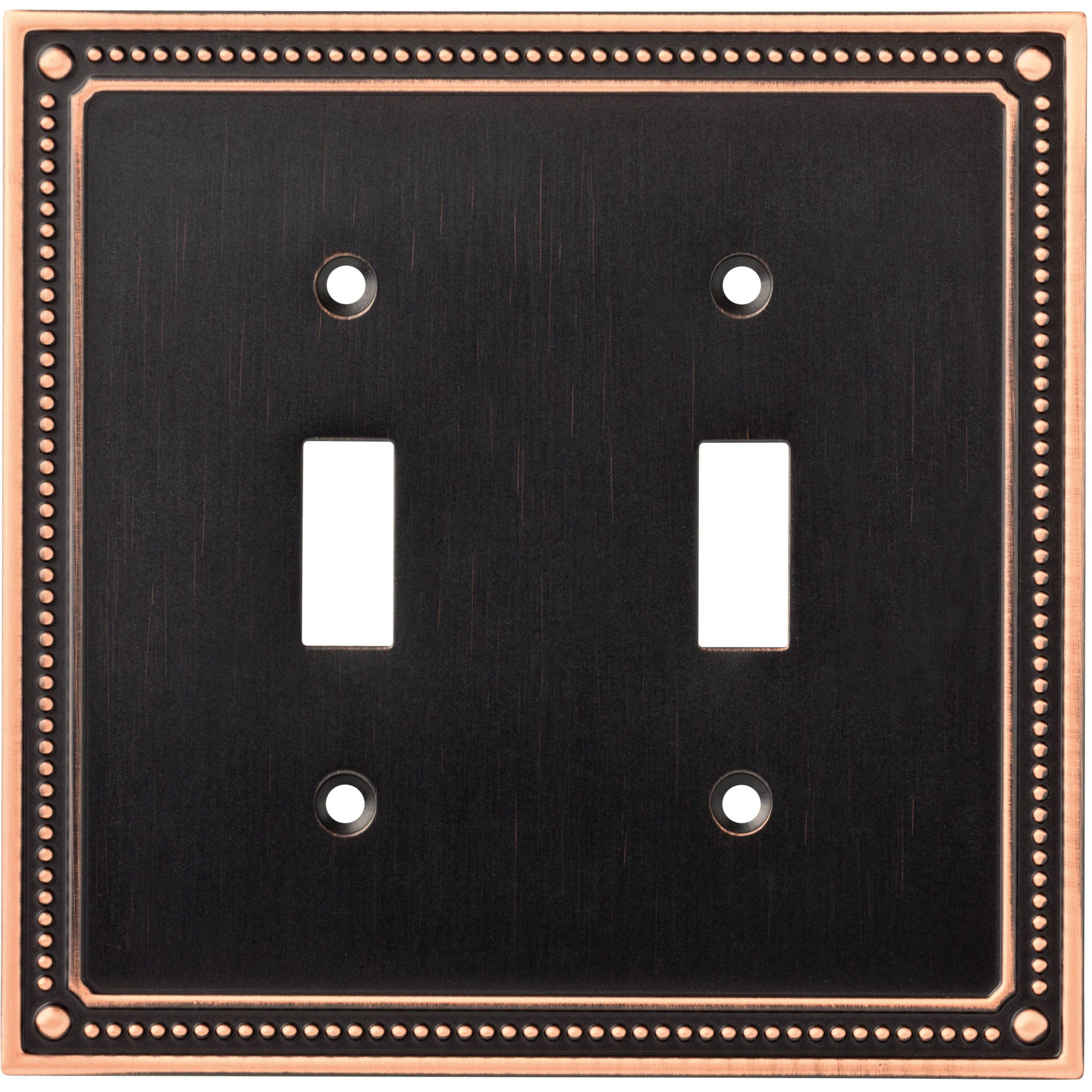 Franklin Brass Classic Beaded Double Switch Wall Plate