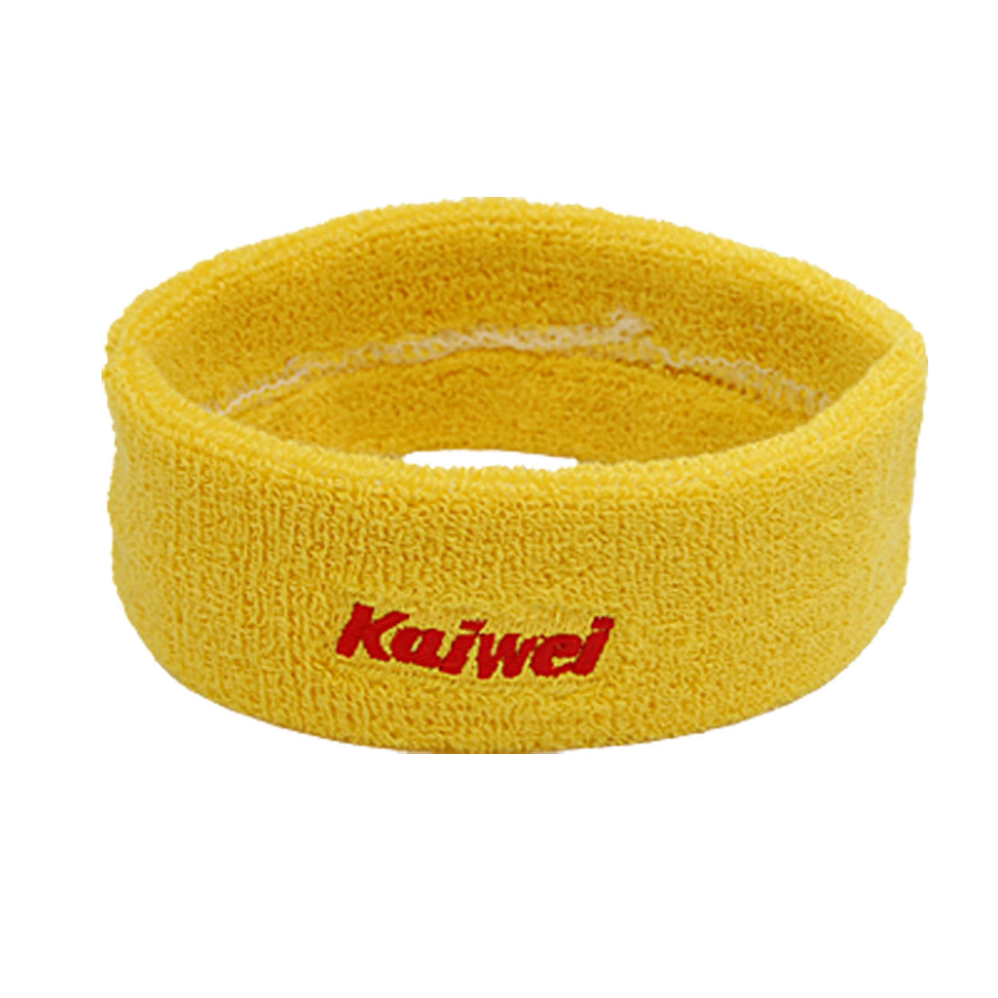 Unique Bargains Elastic Fabric Adjustable Yellow Sports Sweat Headband