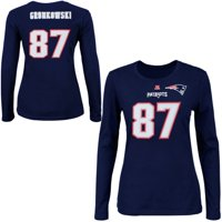 Product Image Rob Gronkowski New England Patriots Majestic Womens Fair  Catch V Name and Number Long Sleeve T fd9bf3188