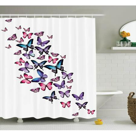 a5966cf580dd2 Butterflies Decoration Shower Curtain Set