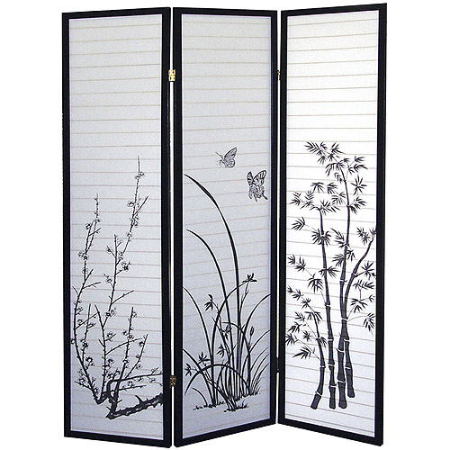 ORE International 3-Panel Room Divider, Floral