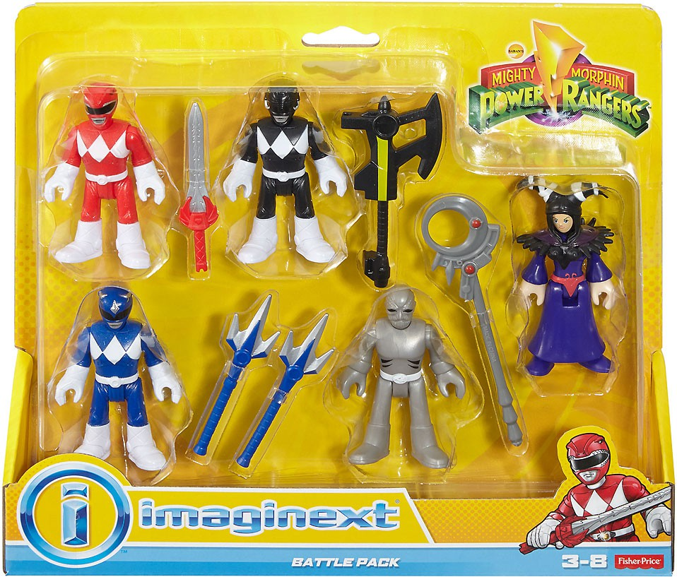 Power Rangers IMaginext Battle Pack Mini Figure 5-Pack by